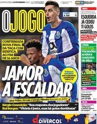 capa Jornal O Jogo de 13 fevereiro 2020