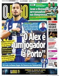 capa Jornal O Jogo de 14 fevereiro 2020