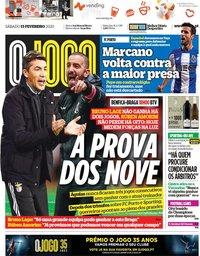 capa Jornal O Jogo de 15 fevereiro 2020