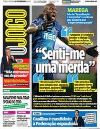capa Jornal O Jogo de 18 fevereiro 2020