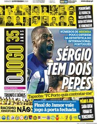 capa Jornal O Jogo de 22 fevereiro 2020
