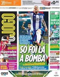 capa Jornal O Jogo de 24 fevereiro 2020