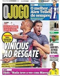 capa Jornal O Jogo de 25 fevereiro 2020