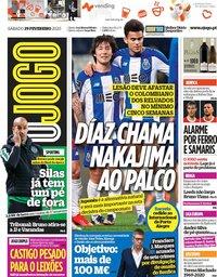 capa Jornal O Jogo de 29 fevereiro 2020