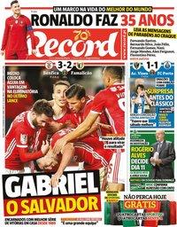 capa Jornal Record de 5 fevereiro 2020