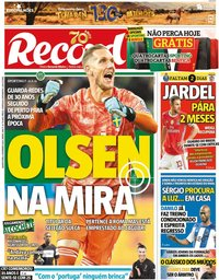 capa Jornal Record de 6 fevereiro 2020