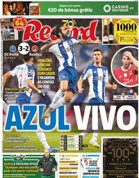 capa Jornal Record de 9 fevereiro 2020