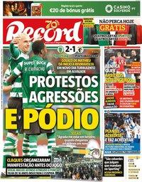 capa Jornal Record de 10 fevereiro 2020