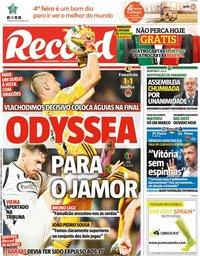 capa Jornal Record de 12 fevereiro 2020
