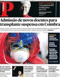 capa Público de 24 fevereiro 2020