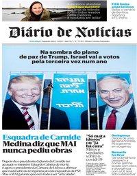 capa Diário de Notícias de 2 março 2020