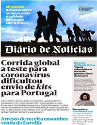 capa Diário de Notícias de 5 março 2020