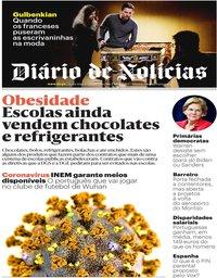 capa Diário de Notícias de 6 março 2020