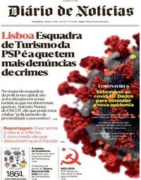capa Diário de Notícias de 7 março 2020