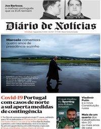 capa Diário de Notícias de 9 março 2020