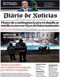 capa Diário de Notícias de 10 março 2020