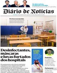 capa Diário de Notícias de 11 março 2020