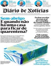 capa Diário de Notícias de 12 março 2020