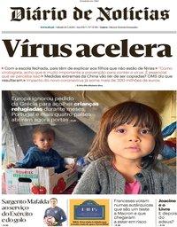 capa Diário de Notícias de 14 março 2020