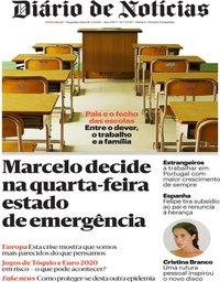 capa Diário de Notícias de 16 março 2020