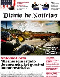 capa Diário de Notícias de 17 março 2020