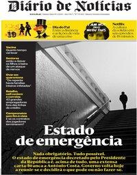 capa Diário de Notícias de 19 março 2020
