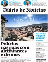 capa Diário de Notícias de 20 março 2020