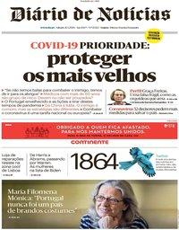capa Diário de Notícias de 21 março 2020