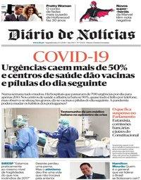 capa Diário de Notícias de 23 março 2020