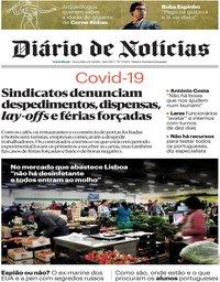 capa Diário de Notícias de 24 março 2020