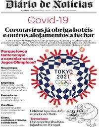 capa Diário de Notícias de 25 março 2020