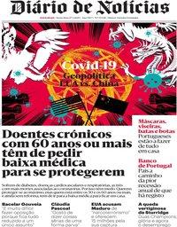capa Diário de Notícias de 27 março 2020