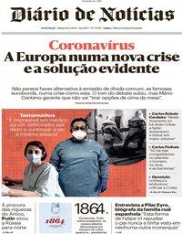 capa Diário de Notícias de 28 março 2020
