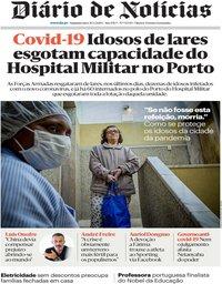 capa Diário de Notícias de 30 março 2020