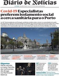 capa Diário de Notícias de 31 março 2020