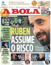capa Jornal A Bola de 4 março 2020