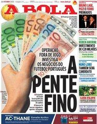capa Jornal A Bola de 5 março 2020