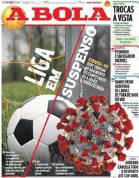 capa Jornal A Bola de 10 março 2020