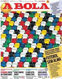 capa Jornal A Bola de 11 março 2020