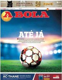 capa Jornal A Bola de 13 março 2020