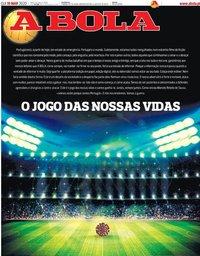 capa Jornal A Bola de 19 março 2020