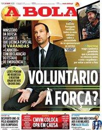 capa Jornal A Bola de 24 março 2020