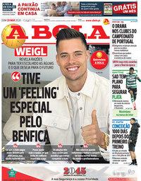 capa Jornal A Bola de 29 março 2020