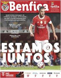 capa Jornal Benfica de 20 março 2020