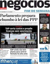 capa Jornal de Negócios de 6 março 2020