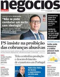capa Jornal de Negócios de 9 março 2020