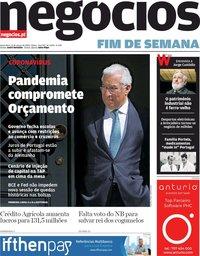 capa Jornal de Negócios de 13 março 2020