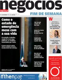capa Jornal de Negócios de 20 março 2020