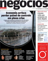 capa Jornal de Negócios de 23 março 2020