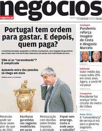 capa Jornal de Negócios de 24 março 2020